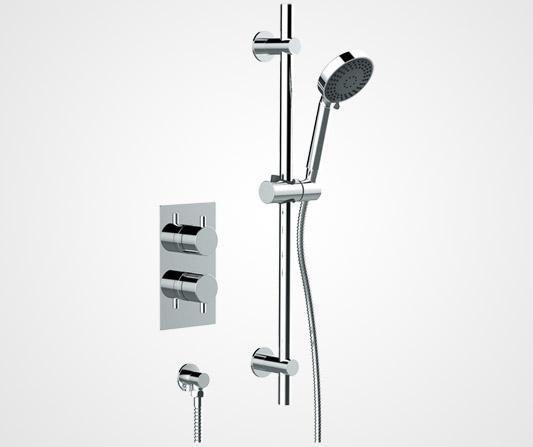 Two handle inline shower valve - British Faucet