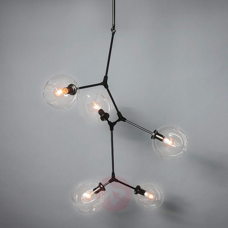 Five-bulb designer LED pendant lamp Globe - design-hotel-lighting