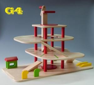 Wooden garage G4 - Wooden Toy