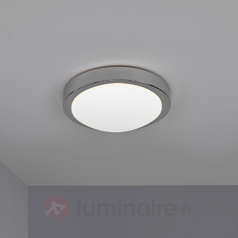 Plafonnier salle de bain LED Aras chromé brillant - Salle de bains