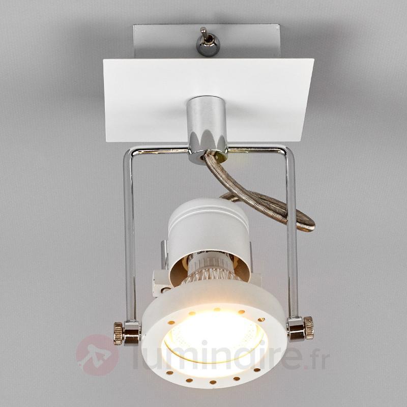 Spot LED blanc Agidio dans un design moderne - Plafonniers LED