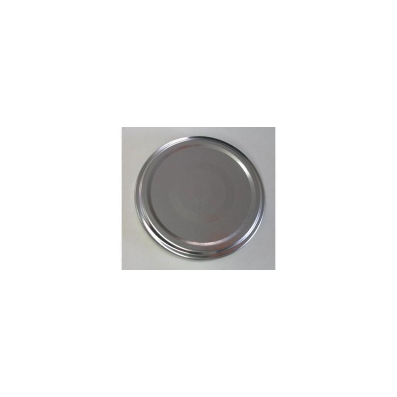 100 Capsules TO 66 mm Argent Pasteurisables - ARGENT