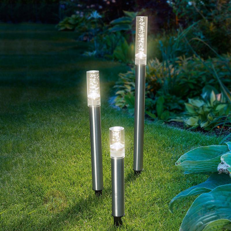 Lot de 3 bâtons lumineux LED solaires Trio Sticks - Toutes les lampes solaires
