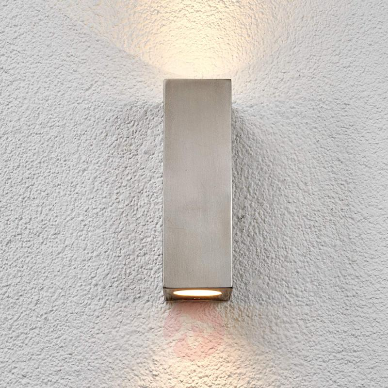 Outdoor wall light Haven, stainless steel - stainless-steel-outdoor-wall-lights