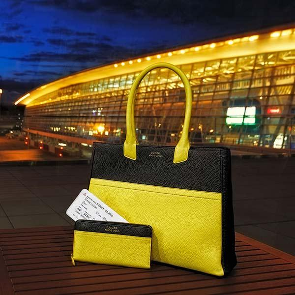Custom Leather Tote & Leather Wallet - Handmade leather handbag and leather wallet by LUC8K