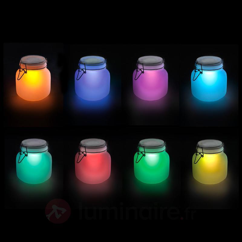 Satin Glas verre LED décoratif, énergie solaire - Lampes décoratives d'extérieur