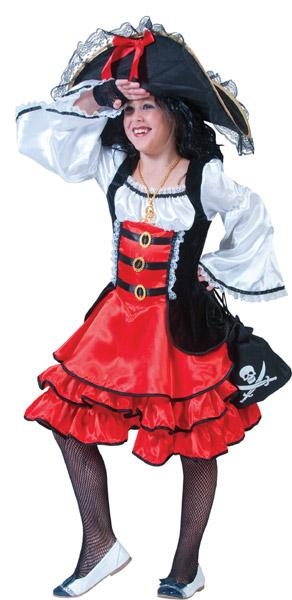 Costume de pirate fille - null