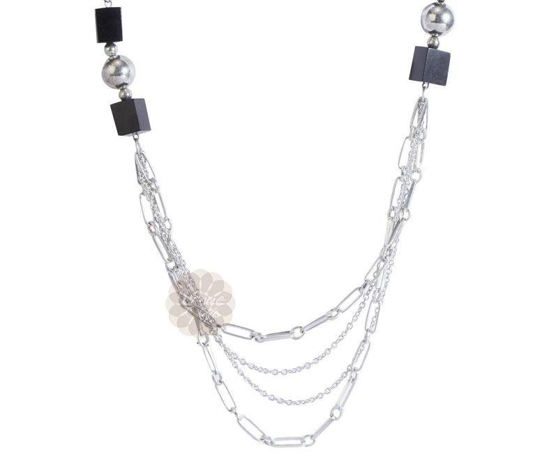 Layered Silver Necklace -