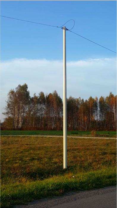 Telecommunication poles for fibre optics, telecom,  -