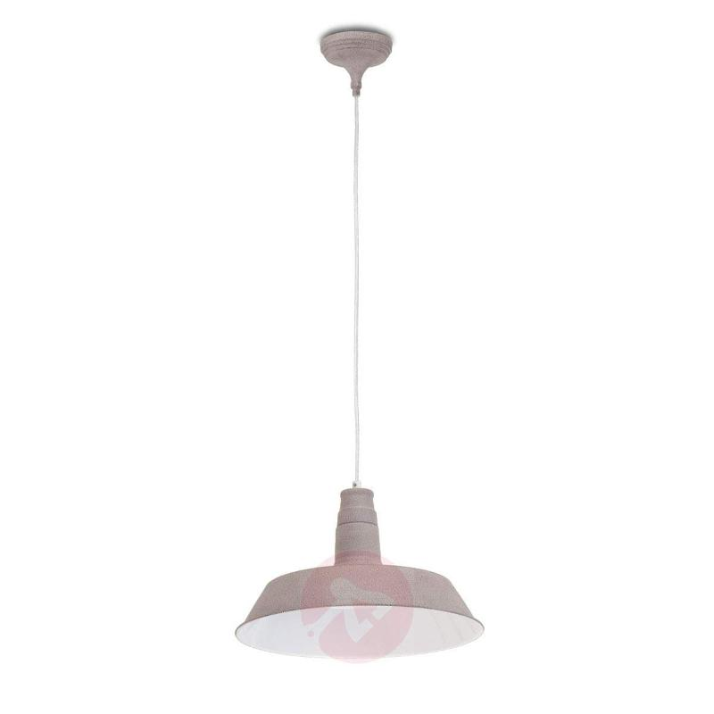 Taupe-coloured lampshade - Sandra hanging light - Pendant Lighting