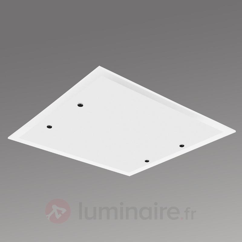 Plafonnier LED carré Area - Plafonniers en verre