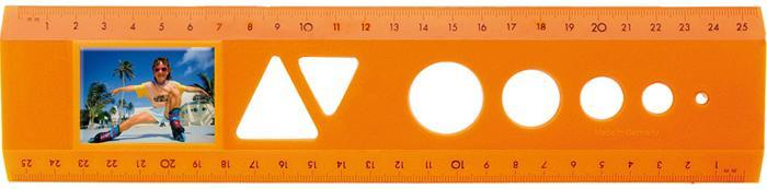 Lineale für Bild- und Werbediastreifen - Das Bildlineal Neon Orange