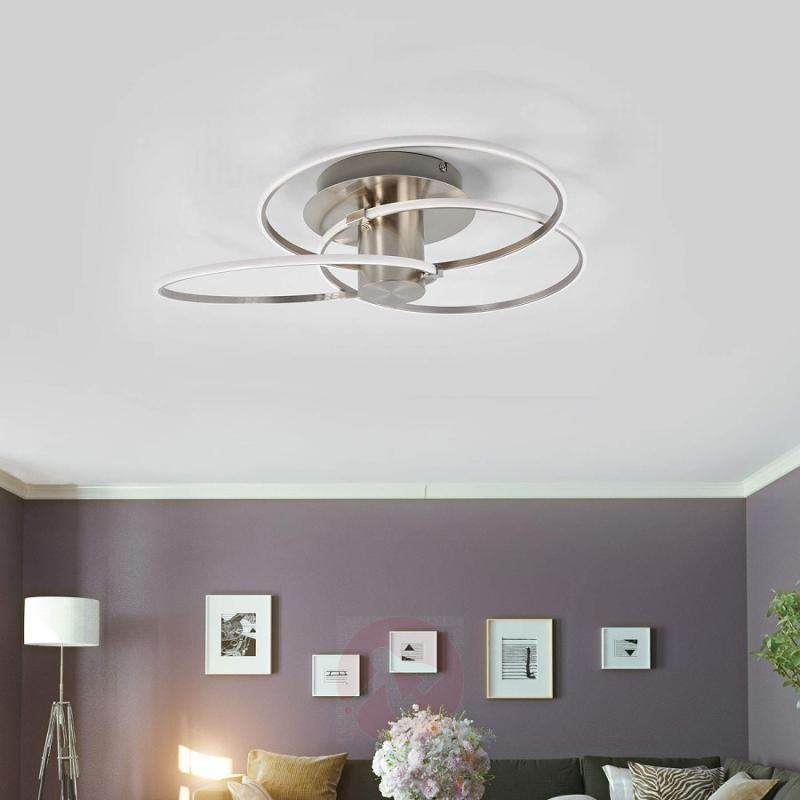 Modern LED ceiling light Antoni, 3 rings - indoor-lighting