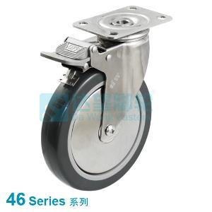 46 series stainless steel caster top plate