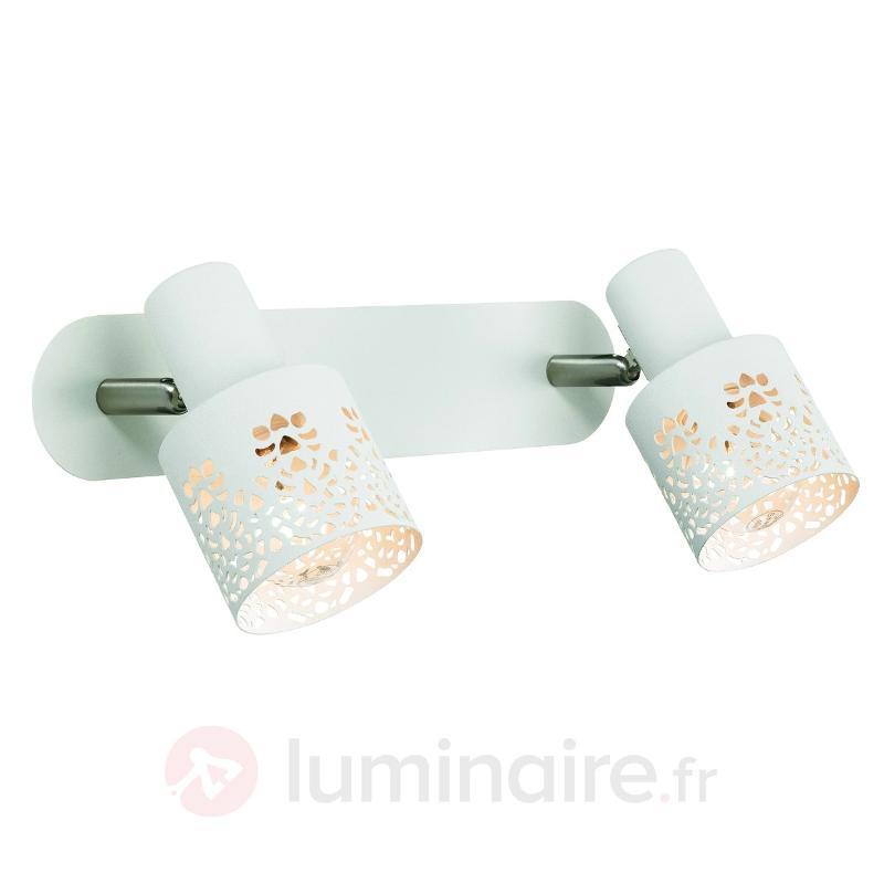 Applique à 2 lampes ÖLAND blanc neutre - Appliques rustiques