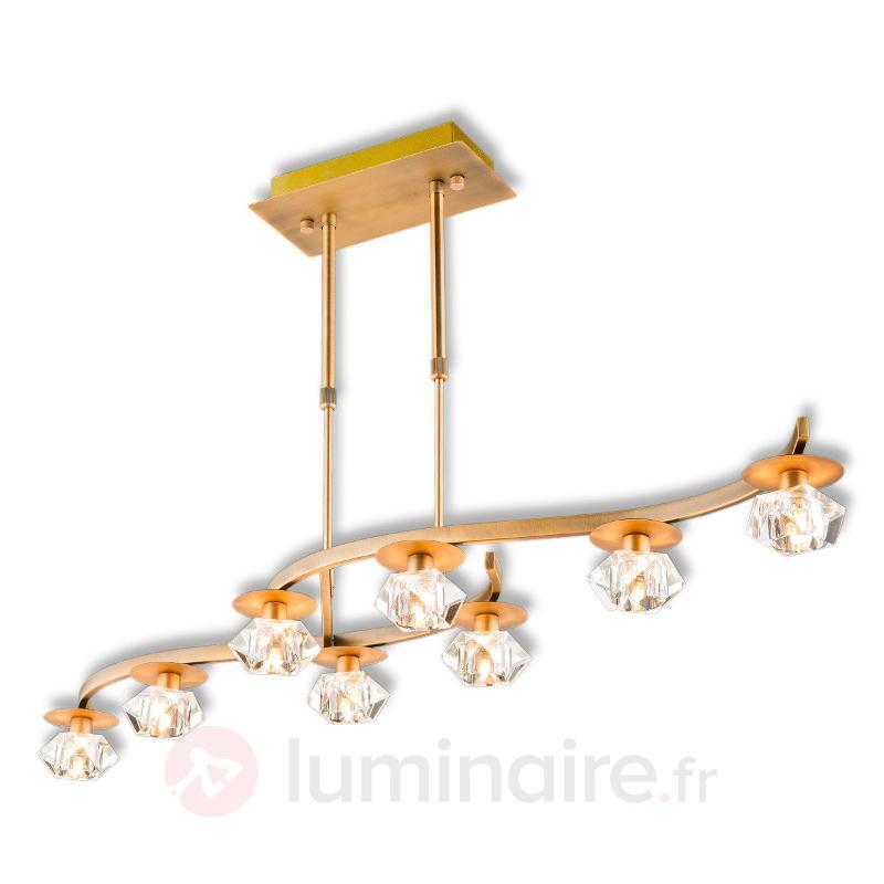 Suspension en cristal exquise Oberon à 8 lampes - Suspensions en cristal