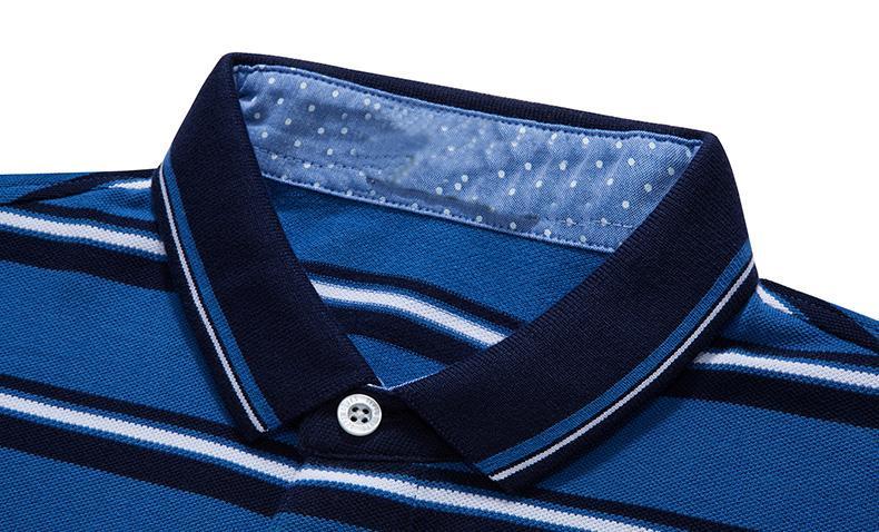 Men's turn-down collar short sleeve T-shirt - short sleeve polo shirt