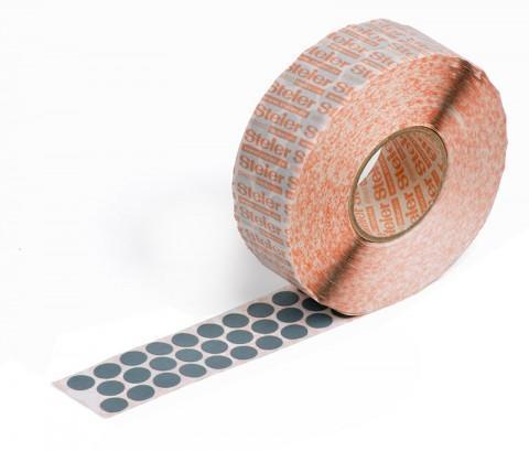 grey self-adhesive fabric marking dots 12 mm - coloured fabric, Steierform 87-67401