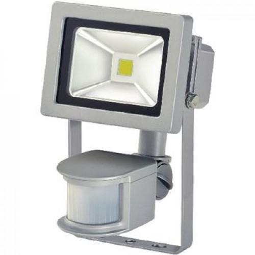 LED Floodlight met Sensor 10 W 700 lm Grijs - Geschikt voor installatie binnen- en buitenshuis