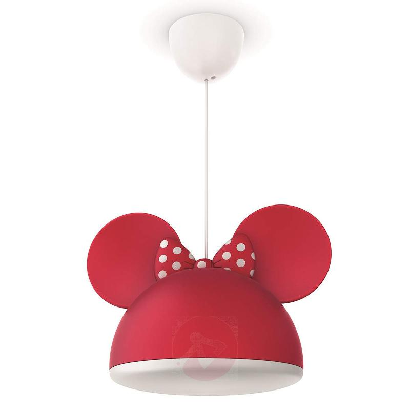 Red Minnie Mouse pendant light with ears - Pendant Lighting