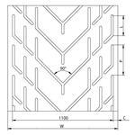 Chevron Conveyor Belts - Chevron Conveyor Belt Typ GB 1100 HC
