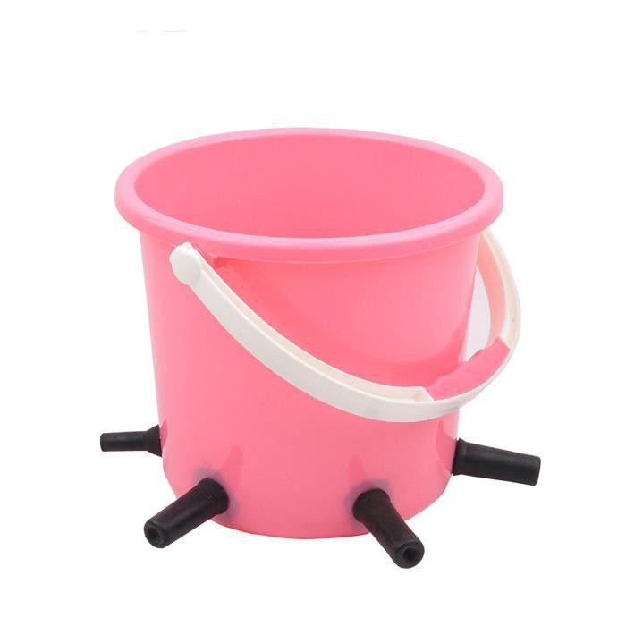 8L Plastic Calf /cattle Feeding/milk Bucket with 5 teat  - animal feeding bucket for cow with teat milk bucket