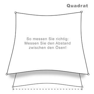 hanSe® Marken Sonnensegel 100% Polyester Quadrat 6x6 m Sand - null