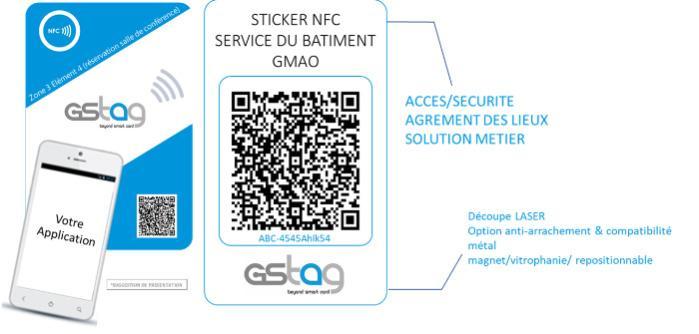 STICKER NFC QRCODE - GMAO, SERVICE DU BATIMENT, GéoFencing