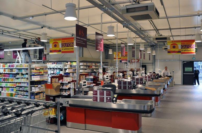 Surface de vente Supermarché - Systèmes de construction démontable - Constructions industrielles