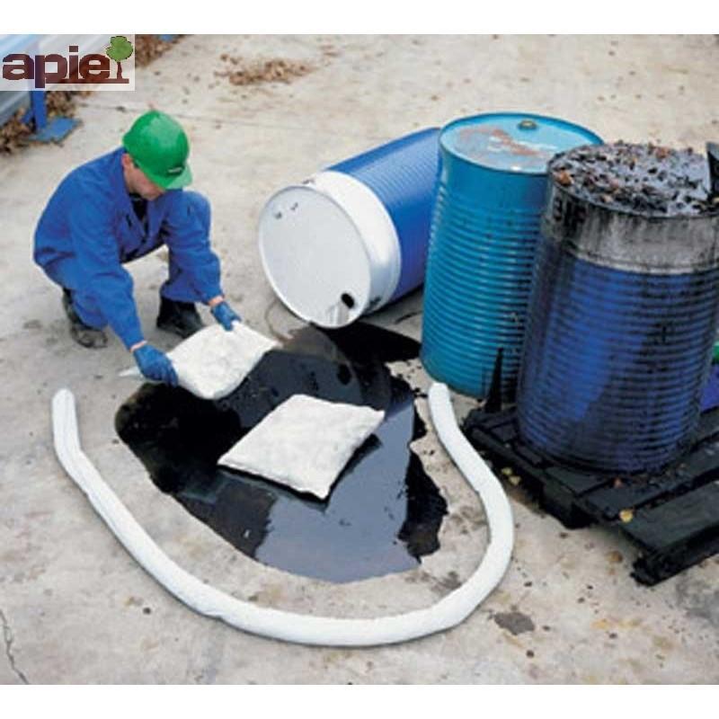 16 coussins absorbants hydrocarbures dim. 38x23 cm - Référence : COUS16/HYDRO/38