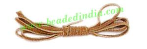Flat Suede Leather Cords 3.0mm, Color - Light Brown. - Flat Suede Leather Cords 3.0mm, Color - Light Brown.