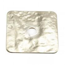 Rondelle carrée martelée métal