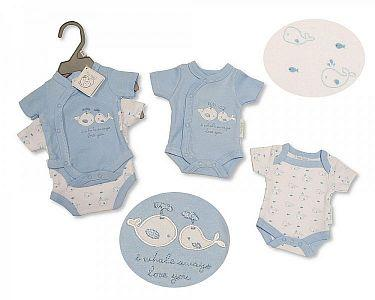 Premature Baby Bodyvest 2-Pack - Whale  -