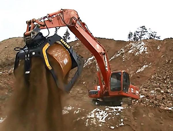Benna Vagliante serie MB-S - Benna vagliatrice per escavatori