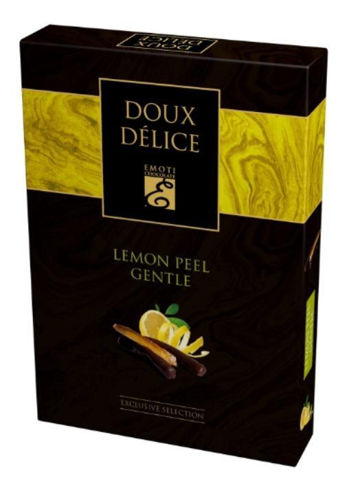 EMOTI Lemon Peel Dark Chocolates, 120g -