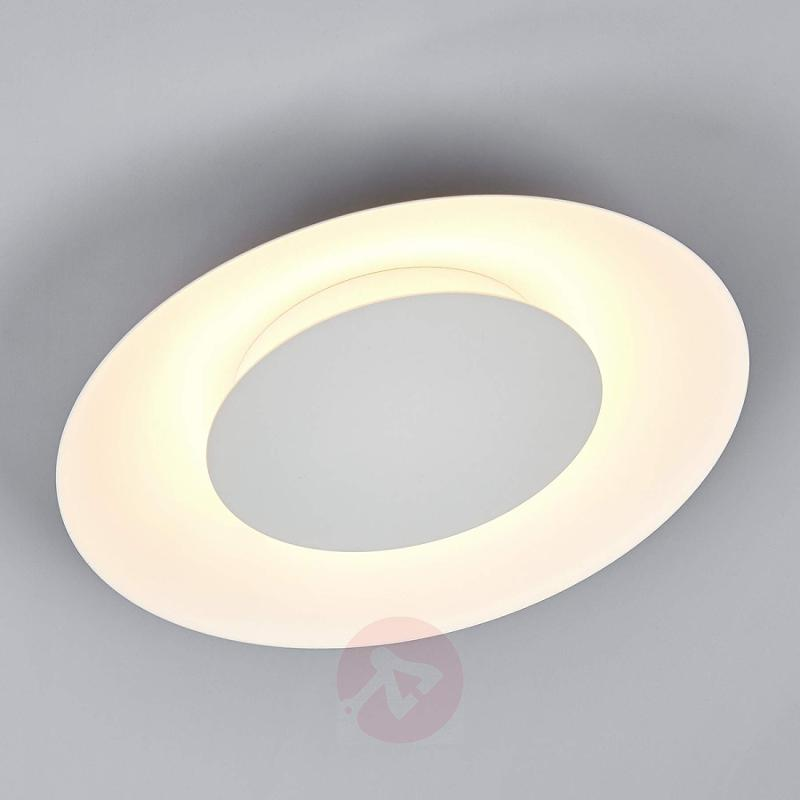 White LED ceiling light Keti with indirect light - indoor-lighting