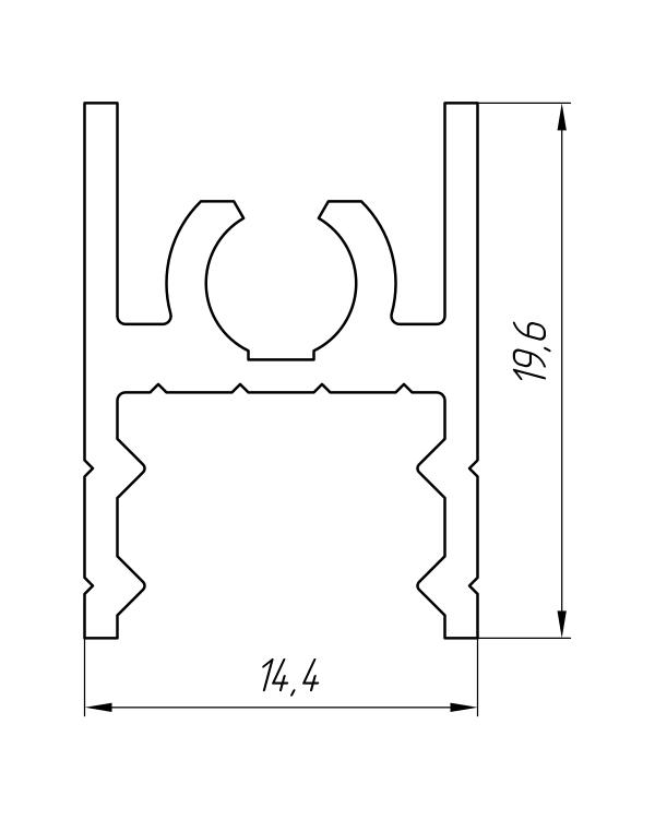 Aluminum Profile For Wardrobes Ат-1008 - Aluminum profile for wardrobes