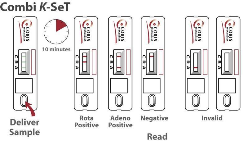 Rotavirus & Adenovirus - Combi K-SeT - diagnostic test - null