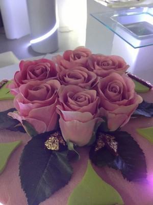 composition de fleurs artificielles sur mesure