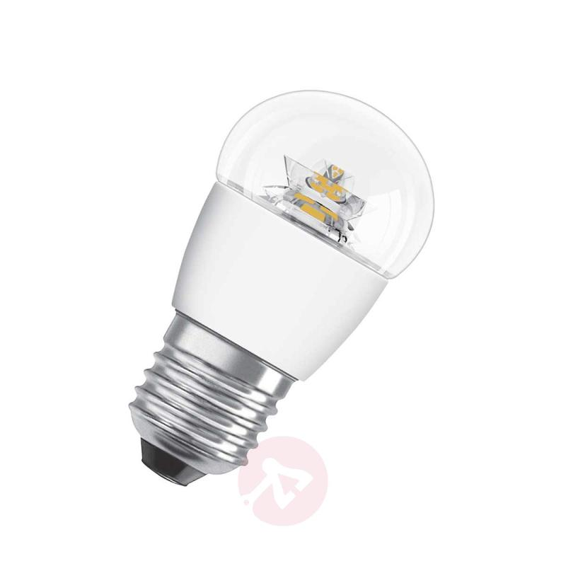 E27 3,3W 827 LED tear bulb Star clear - light-bulbs