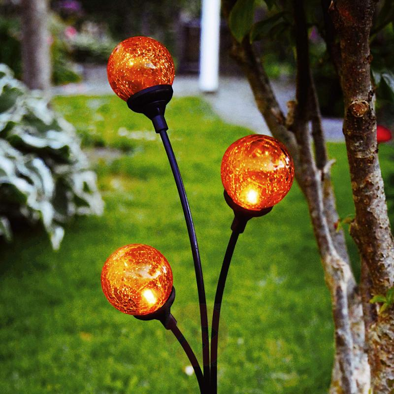 Trieste - solar decorative light with 3 spheres - outdoor-led-lights