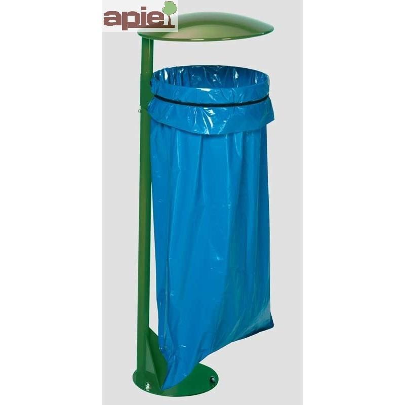 Support sac poubelle avec poteau sur platine - Référence : 3670/36701