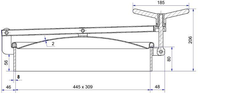 Porte ovale ouverture extérieure - Porte ovale à ouverture extérieure horizontale - H04-407-80