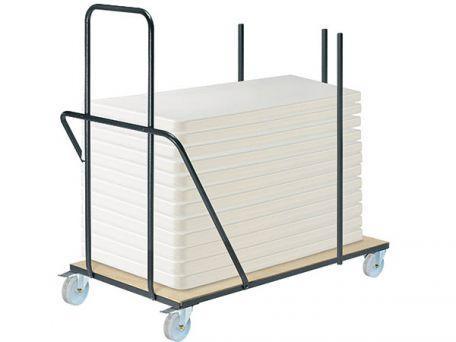 Chariot de transport pour tables pliantes rectangulaires - Mobilier Intérieur