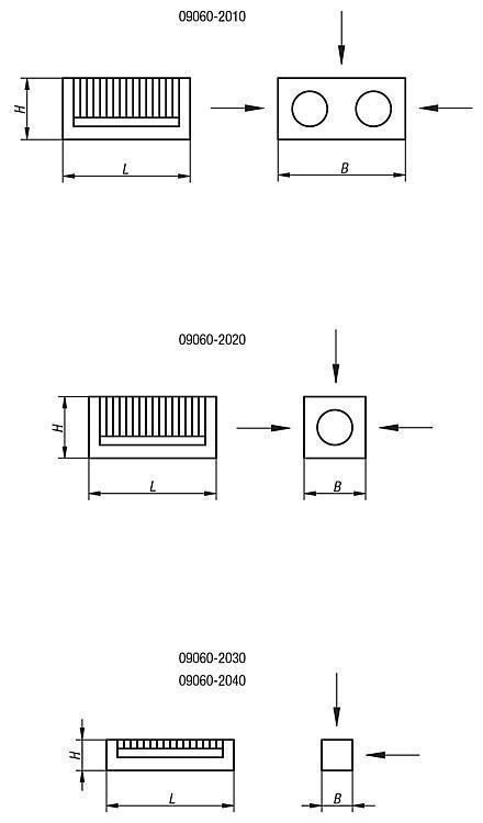 Bloc de serrage magnétique à pas polaire fin / de précision - Aimants