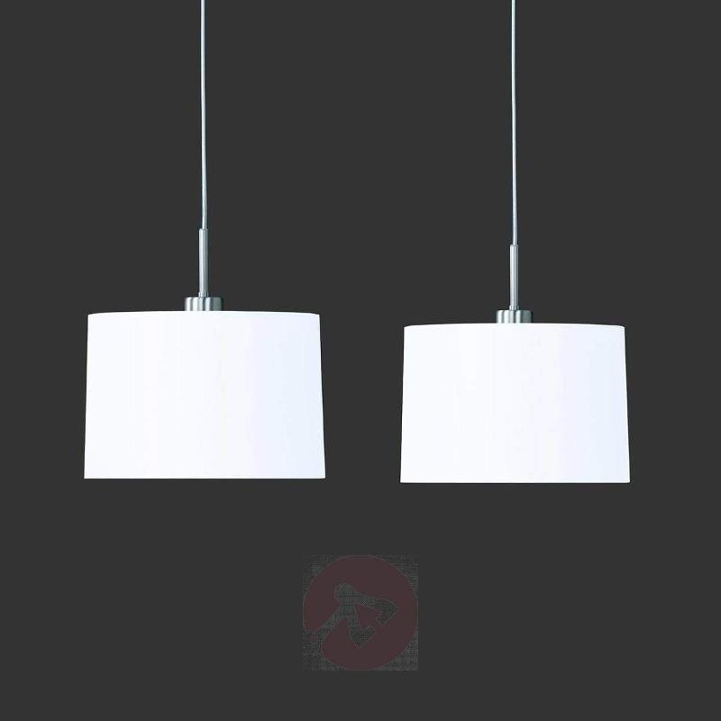 Loop Pendant Light Two Bulbs White Chintz - Pendant Lighting