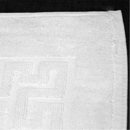 Linge de toilette : serviettes éponge - Tapis de bain blanc Doa 700gr