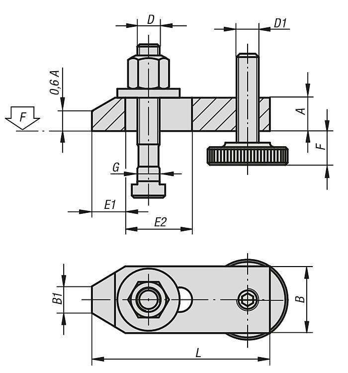 Łapy dociskowe ze śrubami - K0003