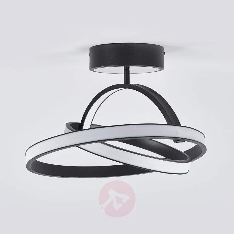Largo - futuristic LED ceiling light in black - Ceiling Lights