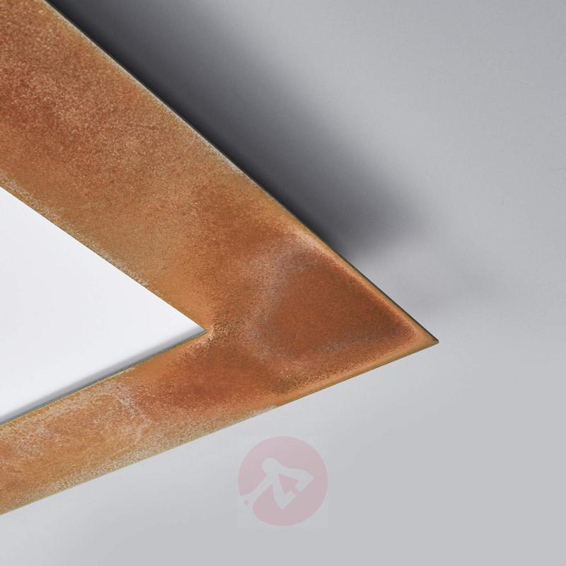 LED panel Deno in rust, also for louvre ceilings - indoor-lighting